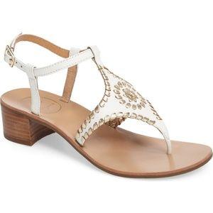 Jack Rogers Elise White Sandals